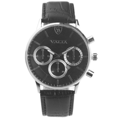 Valia 8281-2 Date Display Semi-steel Quartz Watch
