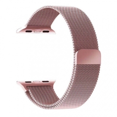 Stainless Steel Smart Watch Strap for Apple Watch 42MM - Rose Gold