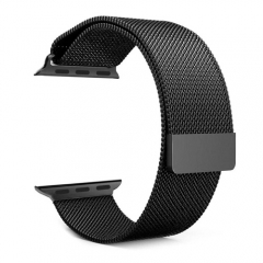 Stainless Steel Smart Watch Strap for Apple Watch 42MM - Black