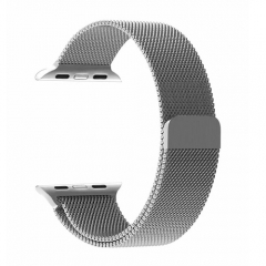 Stainless Steel Smart Watch Strap for Apple Watch 38MM - Silver